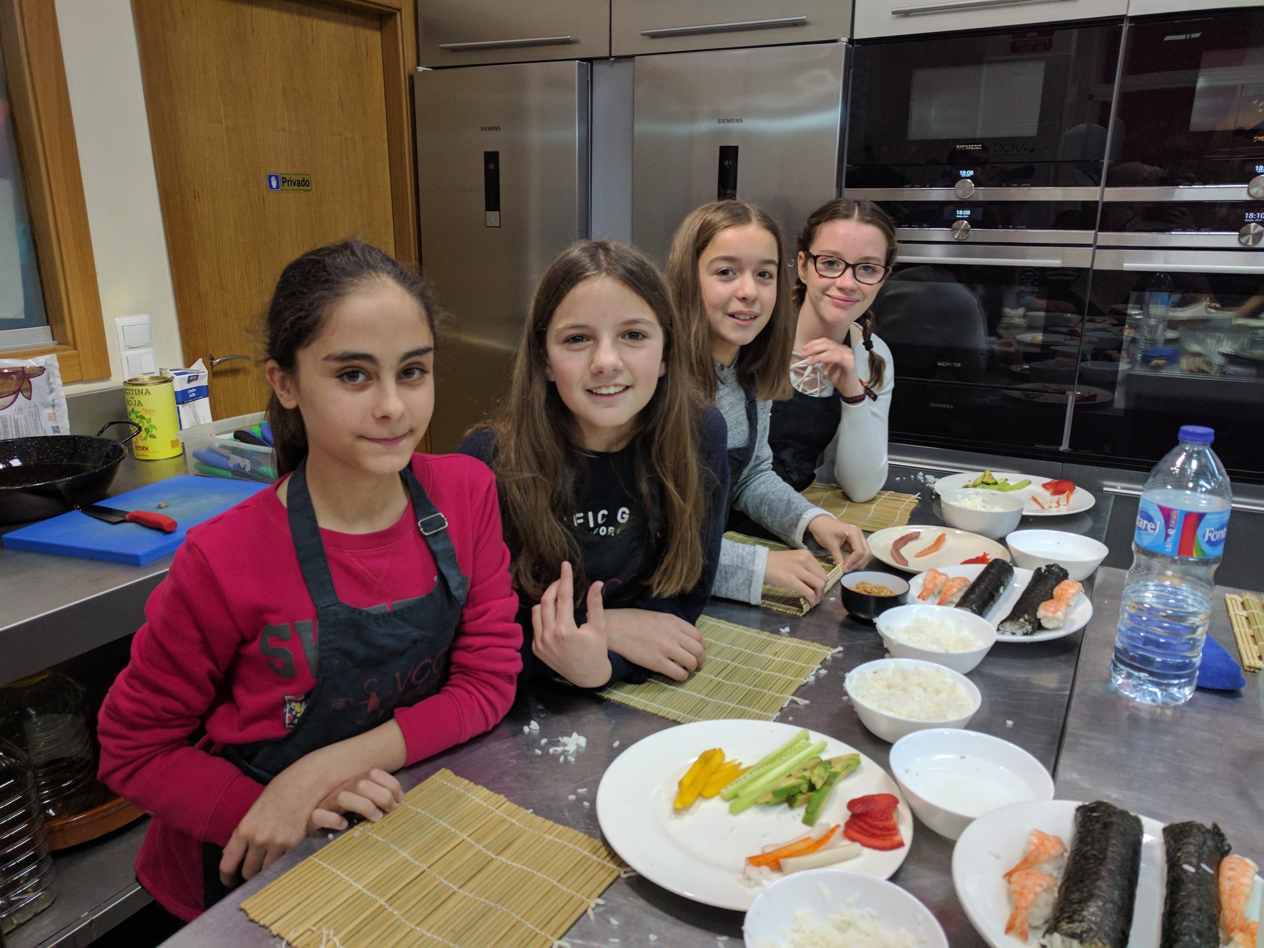 Taller padres e hijos sushi valencia club cocina - Curso cocina valencia ...