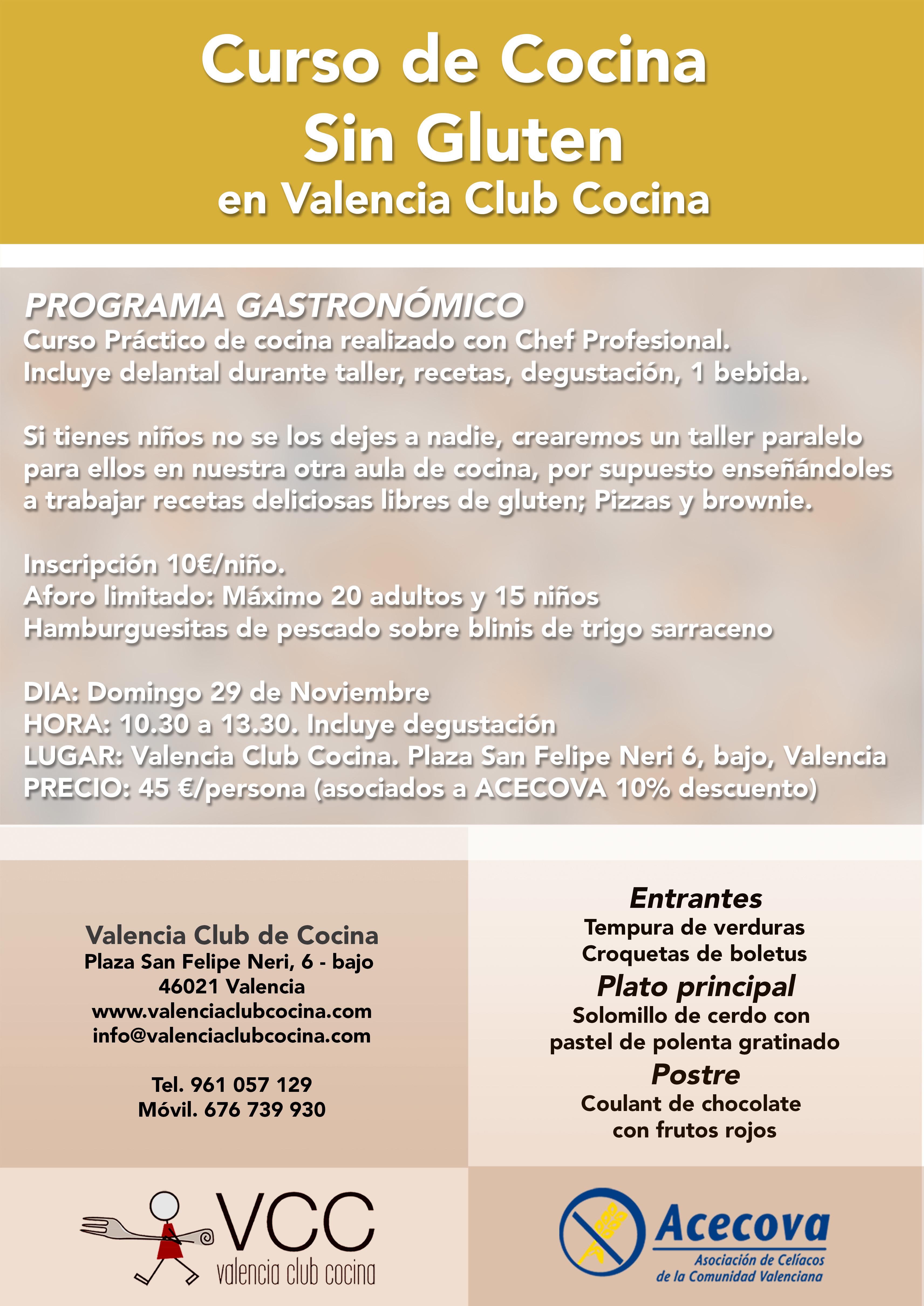 Valencia club cocina - Cursos de cocina en valencia gratis ...